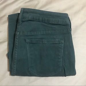 Old Navy Rockstar Dark Teal Sz 10 Skinny Pants